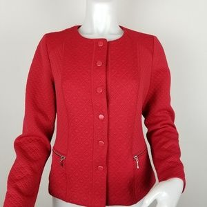 Chico's Size 0 (XS) Red Jacket With Snaps